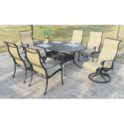 Puentes 7 Piece Dining Set by Canora Grey #2