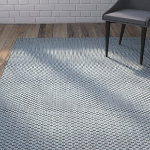 Jefferson Place Cotton Turquoise/Light Gray Indoor/Outdoor Area Rug