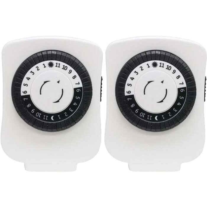 GE Polarized Plug-in Mechanical Timer Wall Mounted Outlet & Reviews ...