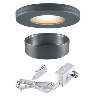 Jesco Lighting Slim Disk Halogen Under Cabinet Recessed Light Kit