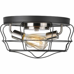 Guide to buy Theressa 2-Light Flush Mount By Williston Forge