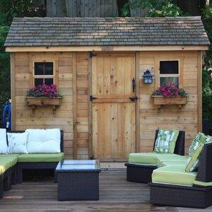 Cabana 12 ft. W x 8 ft. D Wood Storage Shed