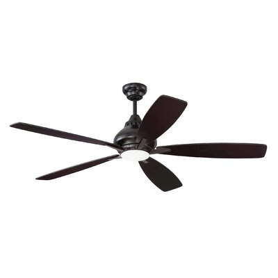 Brayden Studio 52 Ariel 5 Blade Ceiling Fan with Remote Finish: Oiled Bronze
