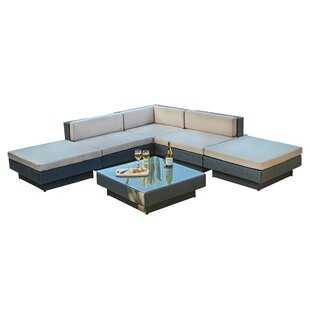 Home Loft Concepts Mallorca 6 Piece Sectional Set with Cushions