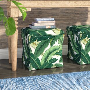 Promfret Swaying Palm Aloe Storage Ottoman