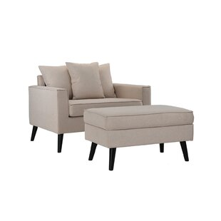 Pogue Armchair and Ottoman by Latitude Run