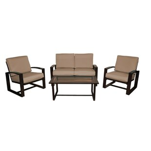 Orren Ellis Brower 4 Piece Sofa Set with Cushions