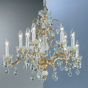 Classic Lighting Madrid 10-Light Candle Style Chandelier