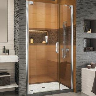 Elegance-LS 39 x 72 Pivot Frameless Shower Door with ClearMax™ Technology by DreamLine