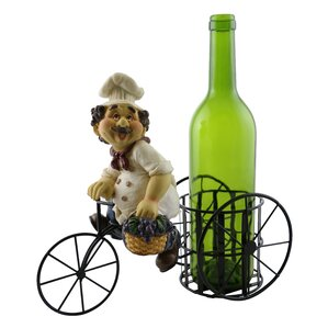 Luann Happy Chef on Bicycle 1 Bottle Tabletop Wine Rack by Fleur De Lis Living