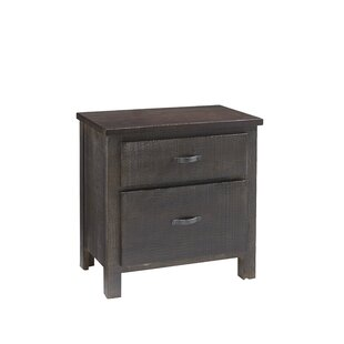 Maness 2 Drawer Nightstand