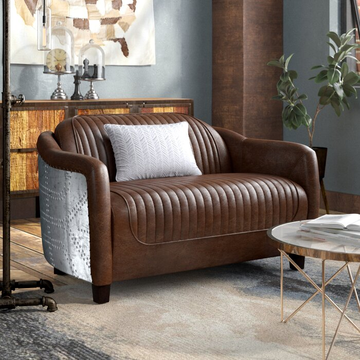 Surprising Analise Leather Loveseat Andrewgaddart Wooden Chair Designs For Living Room Andrewgaddartcom
