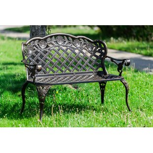 Astoria Grand Ries Lattice Metal Garden Bench