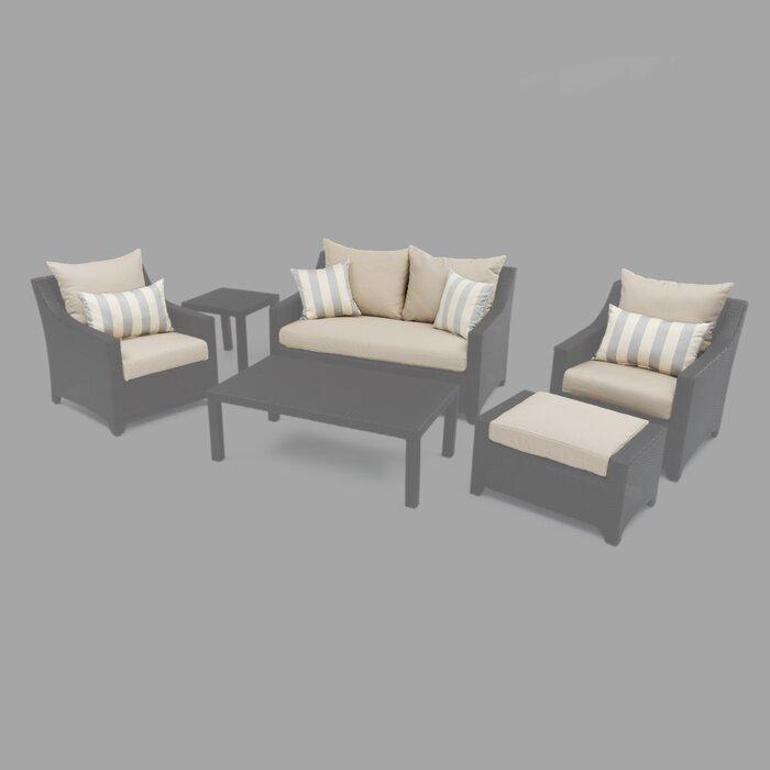 Strange 6 Piece Loveseat Armchair Ottoman Outdoor Cushion Cover Set Creativecarmelina Interior Chair Design Creativecarmelinacom