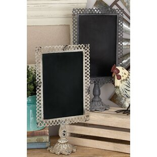 2 Piece Trellis Tabletop Chalkboard Set