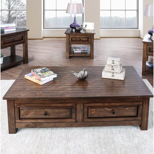 Jansen Coffee Table with Storage Alcott Hill