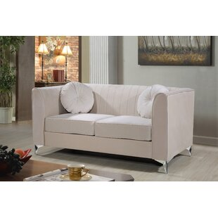 Check Prices Aadvik Chesterfield Loveseat by Mercer41 Reviews (2019) & Buyer's Guide