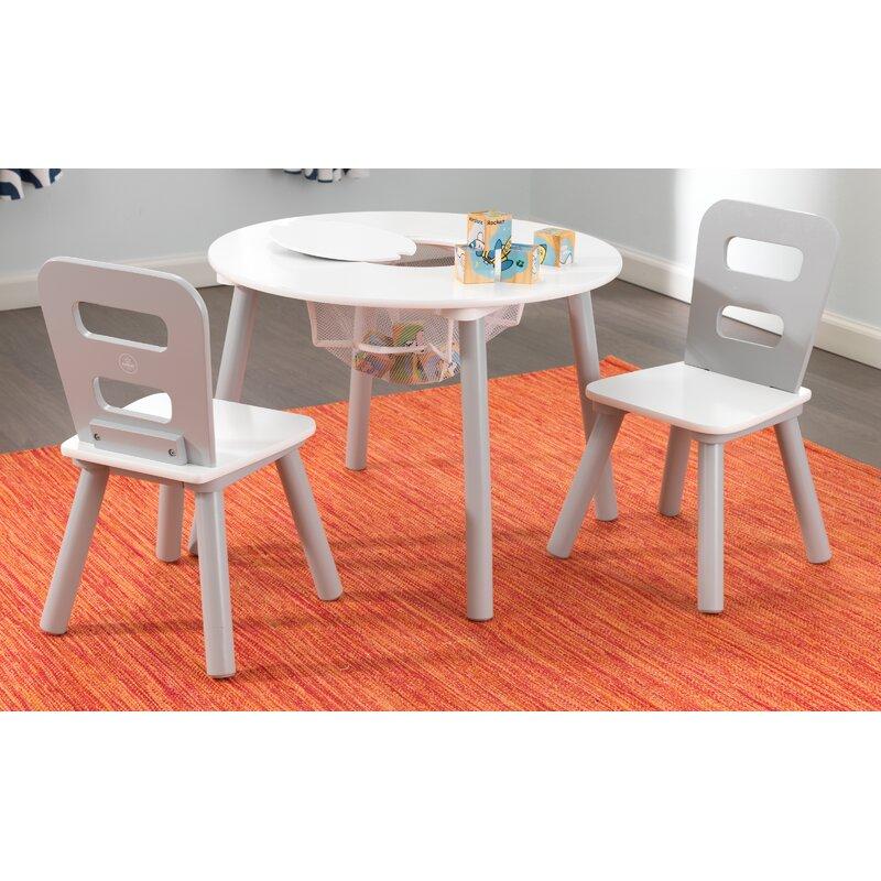 KidKraft 3-tlg. rundes Kindertisch und Stuhl-Set & Bewertungen ...