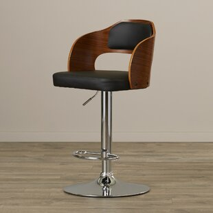 Elida Adjustable Height Swivel Bar Stool Latitude Run