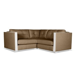 Steffi Buttoned Right And Left Arms L-Shape Mini Modular Sectional by Orren Ellis Best Design