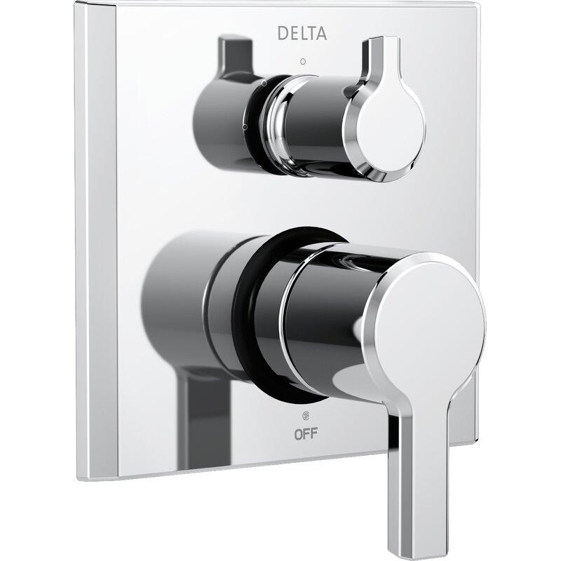 T24899 Delta Pivotal Monitor 14 Series Double Handle Valve Trim With 3 Setting Diverter Reviews Wayfair