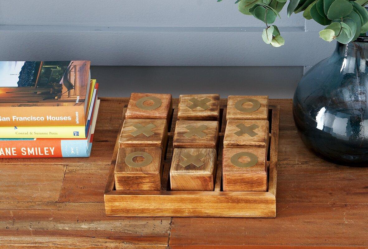 Wood Tic Tac Toe Box Reviews Birch Lane # Muebles Tic Toc