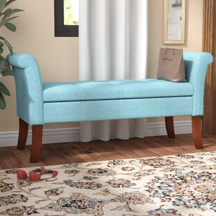 Merveilleux Boudreaux Rolled Arm Upholstered Storage Bench