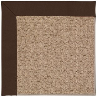 Lisle Machine Tufted Dark Chocolate/Brown Indoor/Outdoor Area Rug
