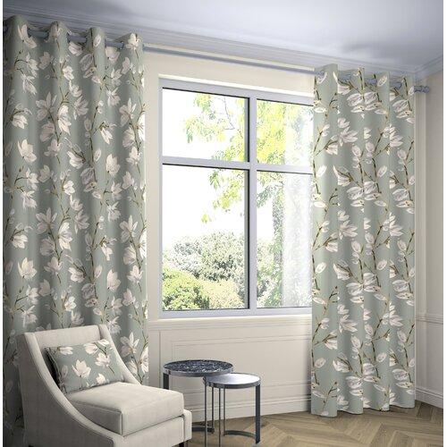 Prentiss Eyelet Curtains Fleur De Lis Living Panel Size: Wid