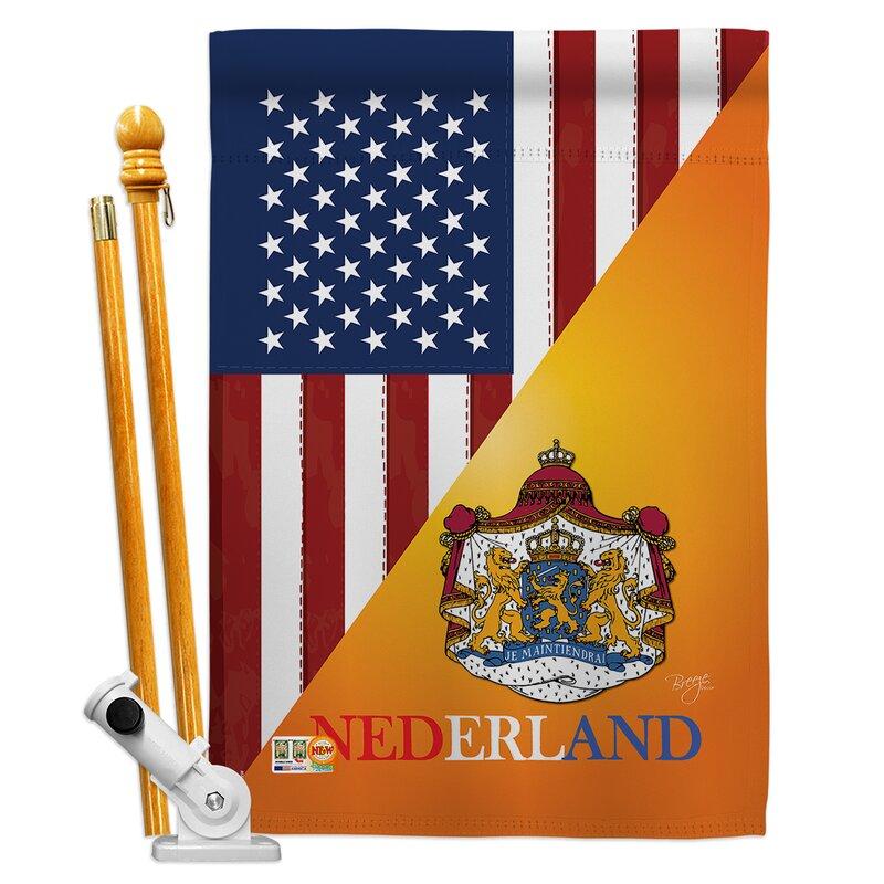 Breeze Decor American Dutch Friendship The World Impressions 2 Sided Polyester 40 X 28 In Flag Set Wayfair