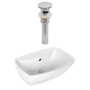 Ceramic Rectangular Vessel Bathroom Sink with Overflow by Royal Purple Bath Kitchen