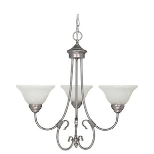 Alcott Hill Selby 3-Light Shaded Chandelier