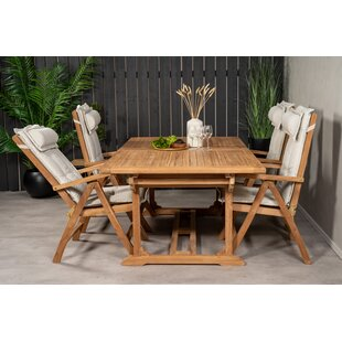 Baek 4 Seater Dining Set With Cushions By Sol 72 Outdoor