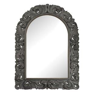 One Allium Way Mitchell Black Ash Arched Wall Mirror