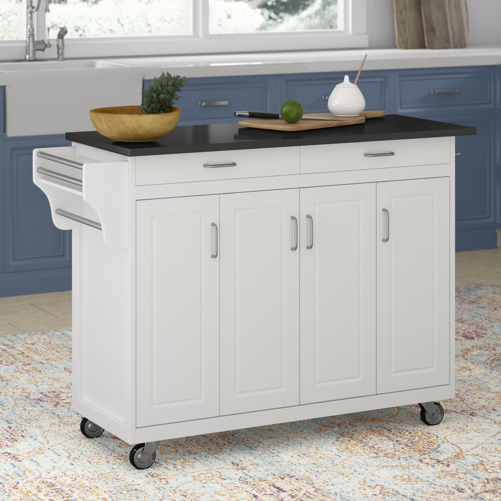 Stroman Kitchen Island With Granite Top