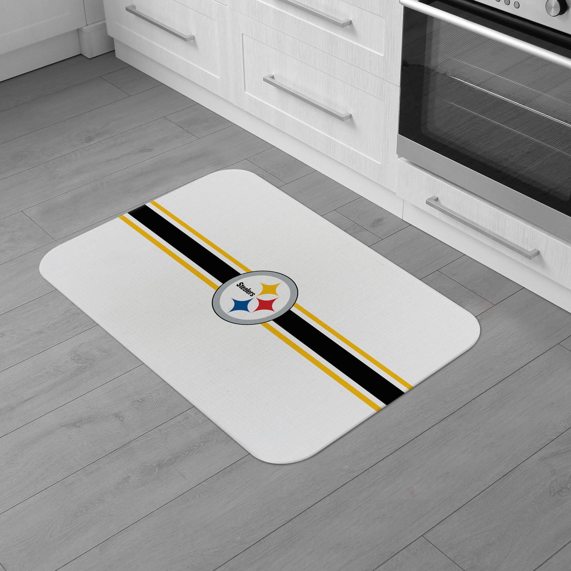 Fanmats Pittsburgh Nfl Steelers Burlap Comfort Anti Fatigue Mat Wayfair