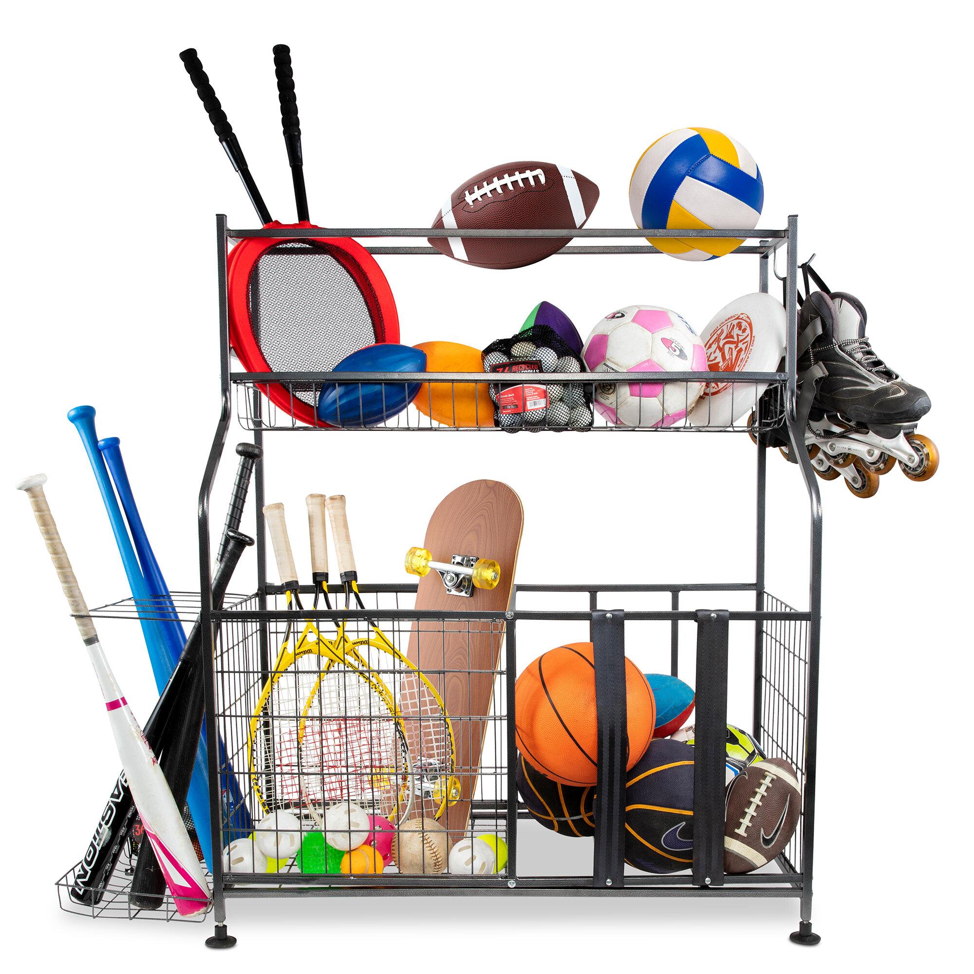 Rebrilliant Passabe Freestanding Sports Rack Wayfair