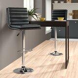 Madeline Swivel Adjustable Height Bar Stool (Set of 2) by Zipcode Design™