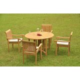 Perego Luxurious 5 Piece Teak Dining Set