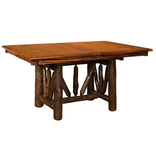 Quinonez Solid Wood Dining Table Loon Peak