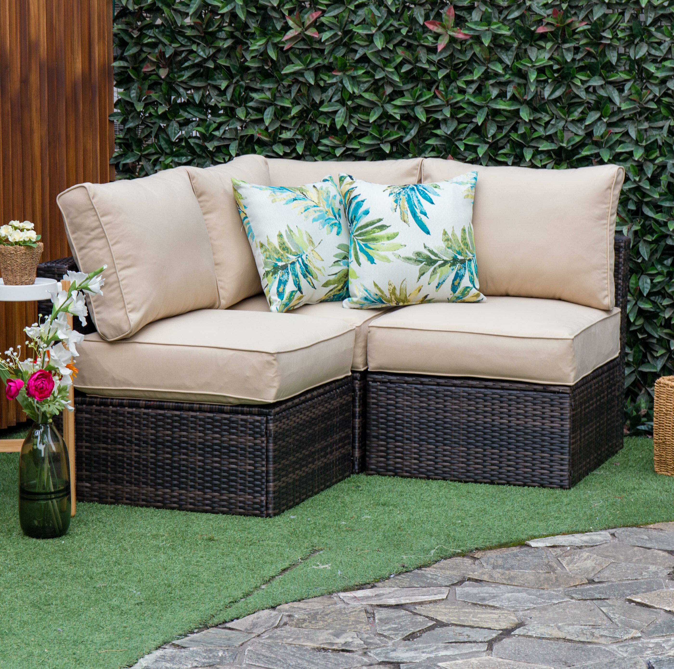 Boyce Outdoor Patio Sectional With