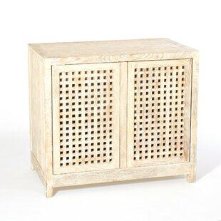 Driftwood Lattice 2 Door Accent Cabinet by Studio A Home