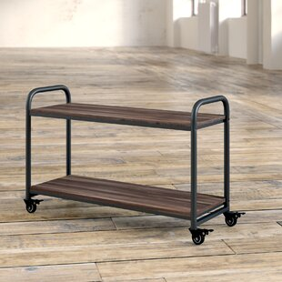 Ulysses 2 Tier Wood Top Bar Cart by Williston Forge