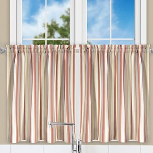 Jaden Stripe Tailored Tier Curtain