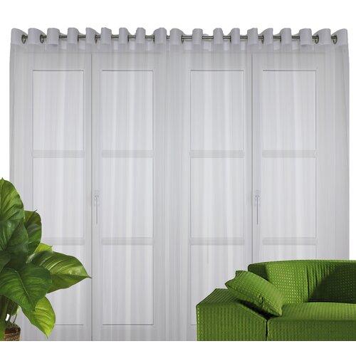 Gardine Manuela mit Ösen (1 Stück)  halbtransparent | Heimtextilien > Gardinen und Vorhänge > Gardinen | Weiß | Wirth
