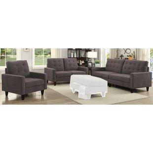 Laoise 3 Piece Living Room Set