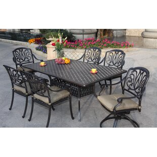 Three Posts Lebanon 7 Piece Dining Set with Cushions