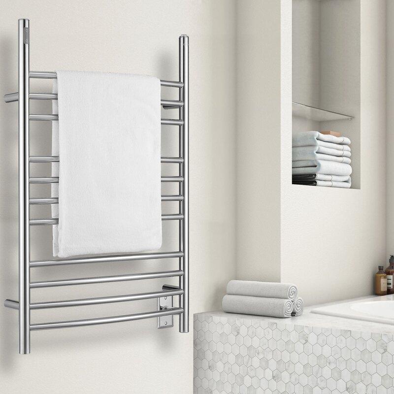 Ancona Ava 3 In 1 Wall Mounted Free Standing Floor Mounted Electric Towel Warmer Wayfair