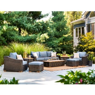 New Boston 8 Piece Sunbrella Seating Group with Cushion by La-Z-Boy Outdoor