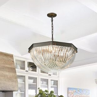 Naia 8-Light Crystal Chandelier by House of Hampton